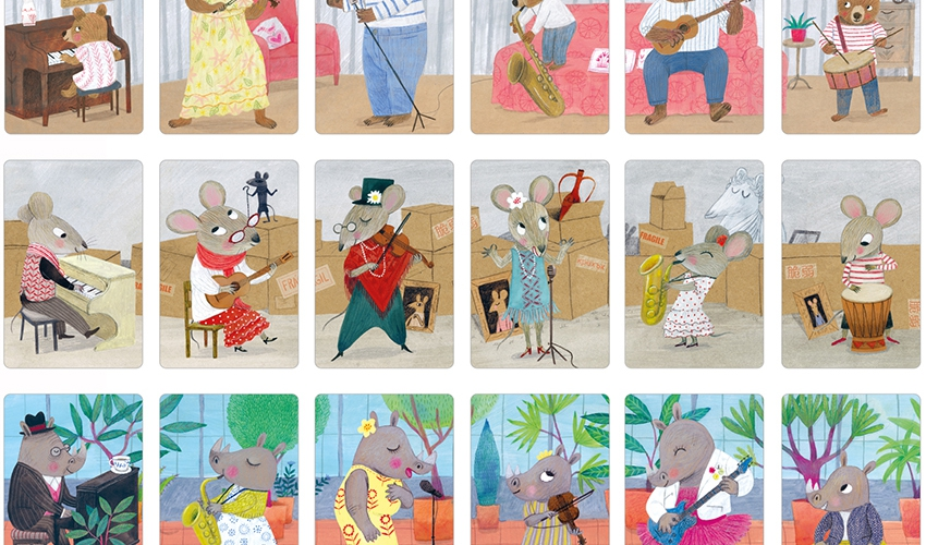 ANIMAL BIG BAND CARDS