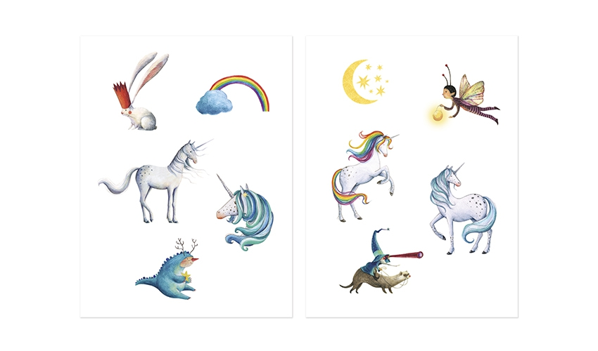 Tattoos Unicorn (set 12)