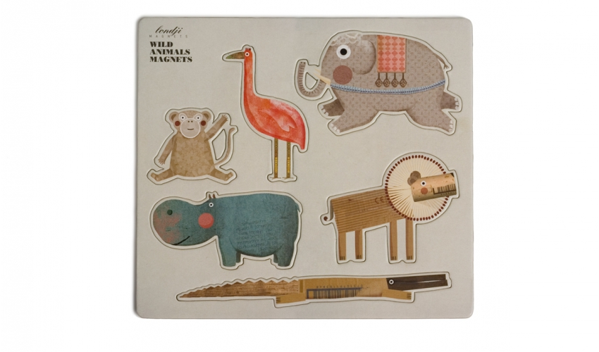 Wild animals magnets