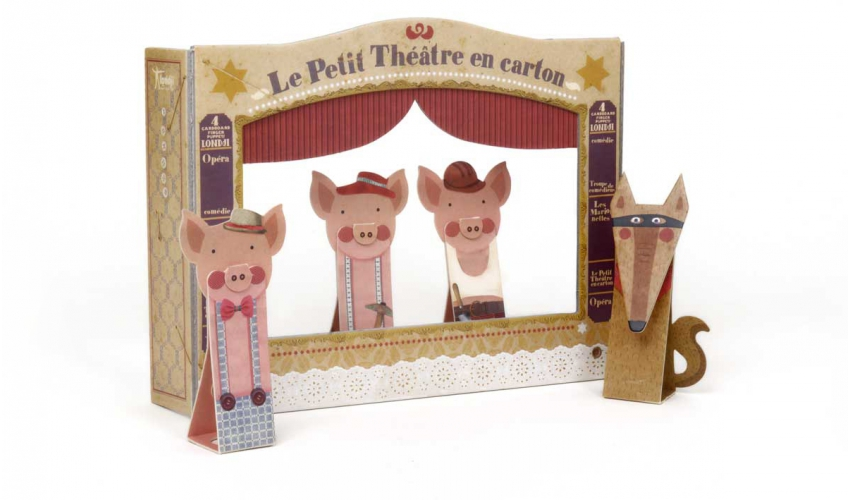 3 Little Pigs - cardboard