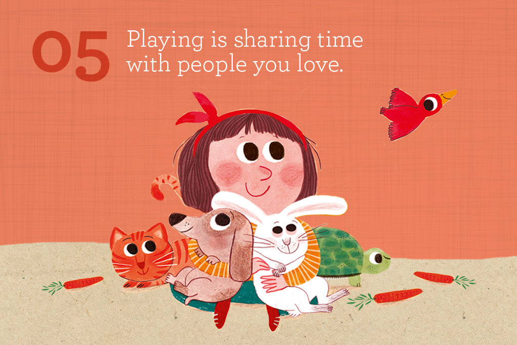 Share the game. Playing is sharing your time with people you love.
